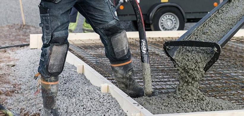 Укладка основания для печатного бетона