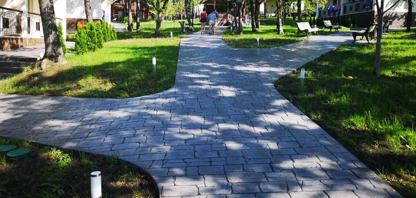 Садово-парковые дорожки из печатного бетона