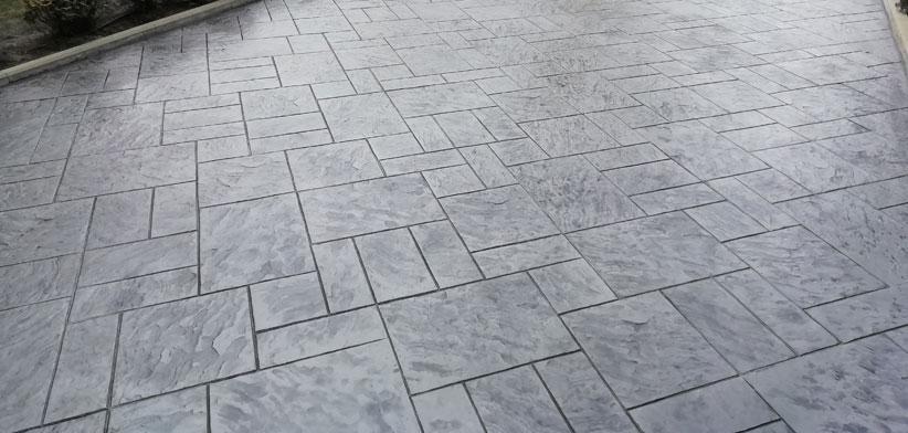 Внешний вид печатного бетона