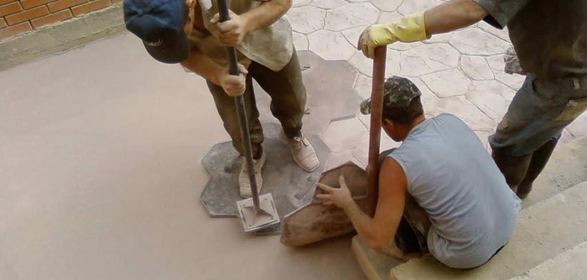 Обучение работк с печатным бетоном